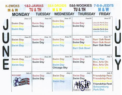 Summer Day Camp Schedule 1